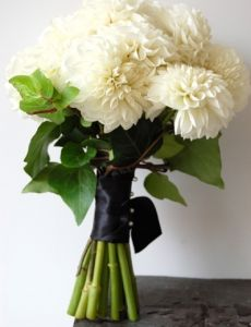 simple bouquet, switch out the black ribbon for a soft fall color then we might have something :)