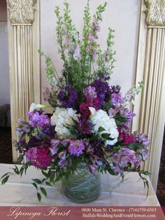 Altar Flowers, Aisle Flowers, Church Flowers, Funeral Flowers, Wedding Flowers, Wedding Bouquet, Purple Flower Arrangements, Funeral Flower Arrangements, Purple Flowers