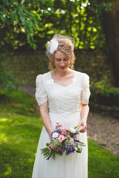 An Elegant 1940s Wedding Dress for a Rustic, Cider Garden Wedding...