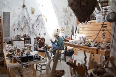 Mari Andrews // sculptor studio. I would settle for the flat file cabinets alone!