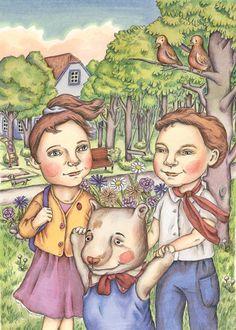 "Illustration by Gerda Märtens for ""Õnnelike õhtulugude sahtel"" / ""The Drawer of Happy Evening Stories"" written by Hilli Rand. Päike ja pilv, Tallinn 2014."