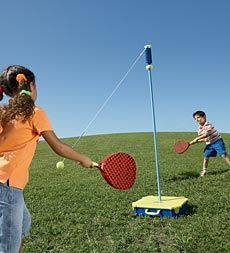 Looks pretty easy to build  Super Swingball Outdoor Game