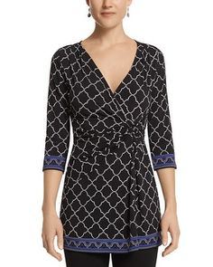A unique tunic that works well with skinny pants (White House Black Market Knotted Tunic #whbm)