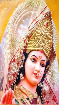 Durga Maa, Durga Goddess, Vaishno Devi, Shiva Parvati Images, Sai Baba Wallpapers, Hindu Deities, Picture Design, Bead, Princess Zelda
