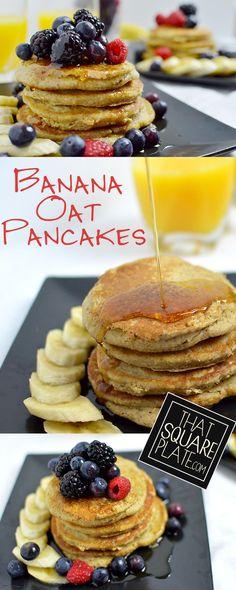 Banana Oat Pancakes recipe - vegan, gluten free