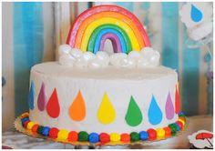 ... rainbow cake topper edible details cake pops cake pop my heart rainbow