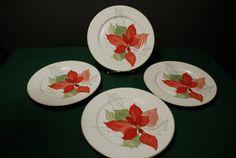 Items similar to Block Spal - Poinsettia cake plates - Set of 4 on Etsy Settings, Blocks, Handmade, Gifts, Poinsettia, Etsy, Plates, Decor, Plate Sets