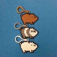 We bare bears 🐻! Perler Bead Designs, Easy Perler Bead Patterns, Melty Bead Patterns, Perler Bead Templates, Hama Beads Design, Diy Perler Beads, Perler Bead Art, Beading Patterns, Hamma Beads 3d