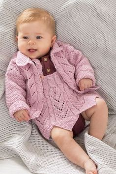 Tiril jakke & selekjole | Sparkjøp Strikkeblogg Baby Barn, Diy And Crafts, Onesies, Pullover, Children, Sweaters, Clothes, Knitting Patterns, Fashion