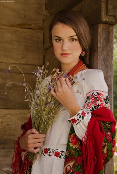 Photo by Anna Senik, www.Ukraine, from Iryna Ukraine Women, Costumes Around The World, Russian Folk, Folk Fashion, Folk Costume, Very Lovely, Traditional Dresses, Modest Fashion, Beauty Women