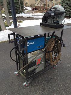 My beloved welding cart!