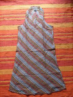 1 Baumwoll-Kleid aus Indien Nr.11 Kleid Kleidung gestreift Baumwolle Neu