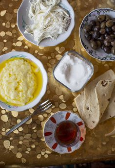 From Turkey: In Kars, made from milk: kaymakli koymak on the left, çeçil peyniri up top