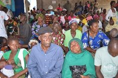 Patients waiting for free vision screenings in Liberia.www.seeintl.org