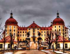Schloss Moritzburg, Germany Named after Duke Mortiz of Saxony, this palace lies on artificial land and is surrounded by woodlands used for hunting