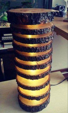 spiral wood light lamp