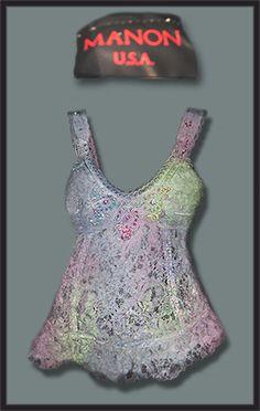Manon Beaded Lace Singlet  Size:10   Price: $10