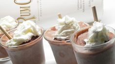 Made with RumChata(R) (rum cream liqueur), these delicious pudding shots are perfect to serve after dinner as a adult dessert.