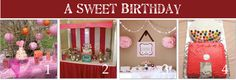 a blog with links to a TON of other blogs about candy themed birthday parties!!