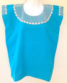 Balochi Dress, Mexican Blouse, Embroidered Blouse, Kids Outfits, Turquoise, Embroidery, Tank Tops, Elegant, Sexy