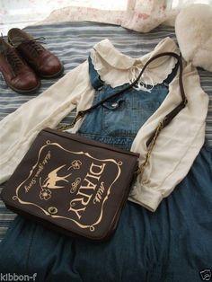 DIARY vintage antique book bag Side handbag lolita mori forest kei accessories #Unbranded #MessengerCrossBody
