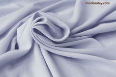 Tissu Japonais crêpe coton soyeux gris