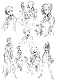 Margaret Sketches - Characters & Art - Persona 4
