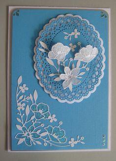 Dies used: Wildflower Corner Memory Box Die 2 Oval Doilies & Mats Paper Artist Dies