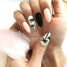 """If you're unfamiliar with nail trends and you hear the words """"coffin nails,"""" what comes to mind? It's not nails with coffins drawn on them. It's long nails with a square tip, and the look has. Summer Acrylic Nails, Cute Acrylic Nails, Fun Nails, Smart Nails, Cute Summer Nail Designs, Cute Summer Nails, Pink Summer, Nail Summer, Summery Nails"""