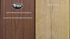 1000 images about trex decking vs wood decking on for Redwood vs composite decking