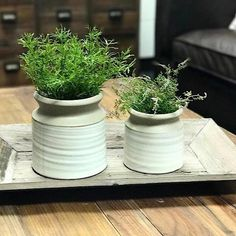 Beautiful pottery vase set! These remind me of old style farmhouse days. They make great...