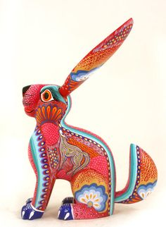 Rabbit Aurora Sosa Oaxacan Wood Carvings