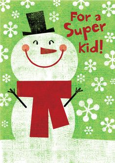Snowman Fun - Gartner Greetings by mrmack, via Flickr---- I really want to embroider this!!
