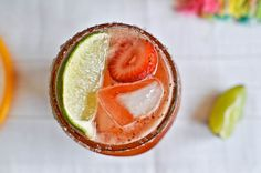 fresh strawberry margaritas