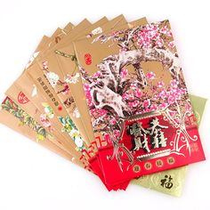 Chinese 'Lucky Red' Envelopes for 8 Chines New Year, Chinese Holidays, Money Envelopes, Red Envelope, Spring Festival, Red S, Fireworks, Cherry Blossom, Beautiful Flowers