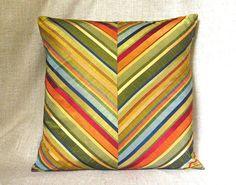 Greenish-yellow Throw Pillow