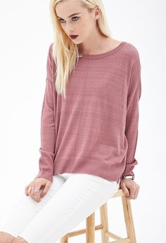 FOREVER 21 Inverted Seam Knit Sweater