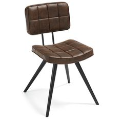 Deze stoere retro stoel LOLA past helemaal binnen de huidige interieurtrends. Retro look is terug en wordt vaak gecombineerd met moderne meubels of toegepast binnen het etnisch interieur. De stoel heeft bekleding van degelijk kunstleer verkrijgbaar in het bruin en in het wit en stevige metalen poten afgewerkt met zwarte epoxy. De stoel is tevens leverbaar met grijze stoffen bekleding. De hoogte van LOLA stoel is 80 cm.