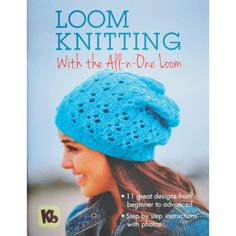 Kb Loom Knitting Pattern Book for All in One loom Hats Socks Shawls Accessories Round Loom Knitting, Loom Knitting Stitches, Knifty Knitter, Loom Knitting Projects, Knitting Books, Knitting Videos, Knitting Needles, Giant Knitting, Finger Knitting