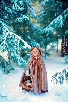 Дед Мороз и Снегурочка / дети, праздник, зима, новый год, снегурочка, дед мороз, сказка, девочка