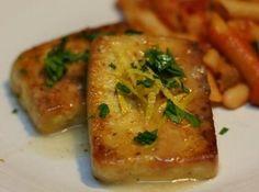 Tofu Cutlets in a Lemon Sauce #vegan