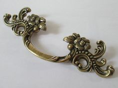 Dresser Pulls Drawer Pull Handles Antique Bronze Unique Ornate French Provincial