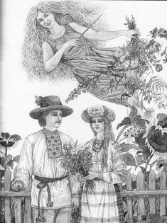 Бордзя - апякунка тых, хто нядаўна ўзяў шлюб. Bordzia - a kind  spirit in belarusian folklore. She was a patron of newlyweds
