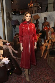 Olivia Palermo attends the Malone Souliers AW18 Presentation during London Fashion Week February 2018 at 12 Hay Hill on February 18 2018 in London...