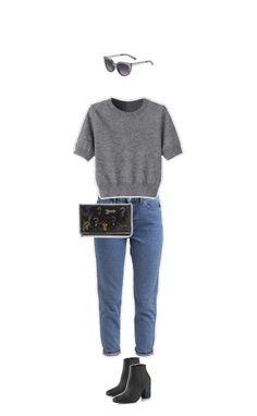 Sonnenbrille und Jeans #Topshop Pulli #Choies Stiefeletten #Minimarket Clutch #StellaMcCartney