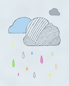 Playing in puddles by Andrea on Etsy