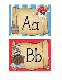 As mentioned, my next set of Word Wall cards are Pirate themed! Ah Hoy to all pirate teachers! I've seen so many pictures for adorable pirat. School Decorations, School Themes, Classroom Themes, Seasonal Classrooms, Classroom Organization, School Ideas, Preschool Pirate Theme, Pirate Activities, Pirate Bulletin Boards