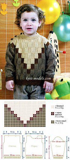Baby Boy Knitting Patterns, Knitting For Kids, Easy Knitting, Knitting Designs, Knit Patterns, Knit Baby Sweaters, Boys Sweaters, Knit Baby Dress, Baby Cardigan