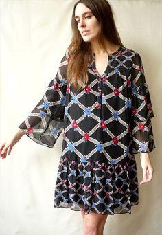 CELIA BIRTWELL For John Lewis Hippy Babydoll Silk Mini Dress