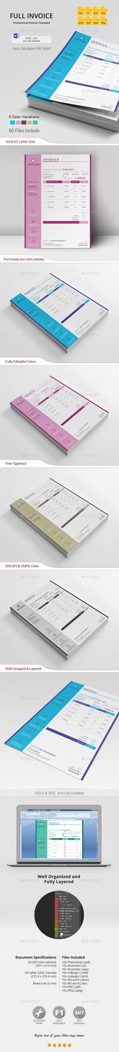 Invoice Template Download, Print and Stationery - invoice spreadsheet template free